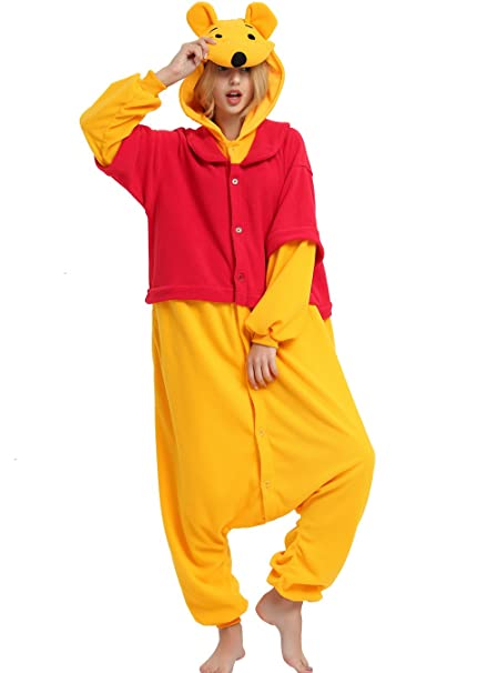 Winnie The Pooh Bear Onesie Costume For Adult and Teens.Halloween Animal  Costume For Men 769f1af5f8