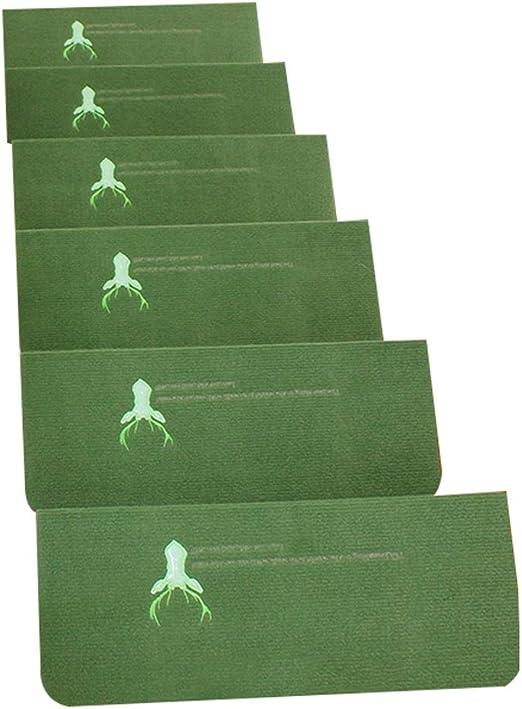 Alfombras Escalera Verde, Sin Pegamento Pisadas de Escalera de autoadhesiva, con tapetes de Escalera nocivos, Antideslizantes, nocivos, 4 mm (Color : Set of 2, Tamaño : 70×22+4.5cm): Amazon.es: Hogar