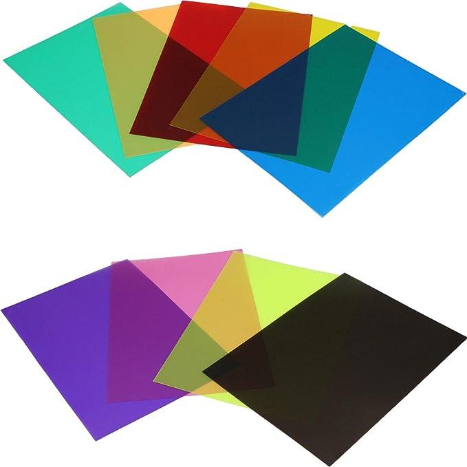 Farbfolie Farbfilter Folie Filterset Farbkorrektur Mit Kamera