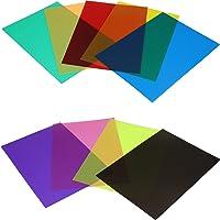 Película de Color Película de Filtro de Color, Juego de filtros, corrección de Color con 9 Colores para luz de Flash…