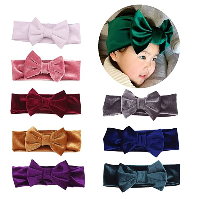 Amazon inSowni Boutique Stretch Bow Ear Turban Headbands Set for Baby Girl Toddlers Kids $14