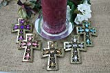DECORATIVE CANDLE PIN CRYSTAL CROSS (SET OF 5)
