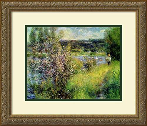 Framed Art Print, 'The Seine at Chatou' by Pierre-Auguste Renoir: Outer Size 18 x 15