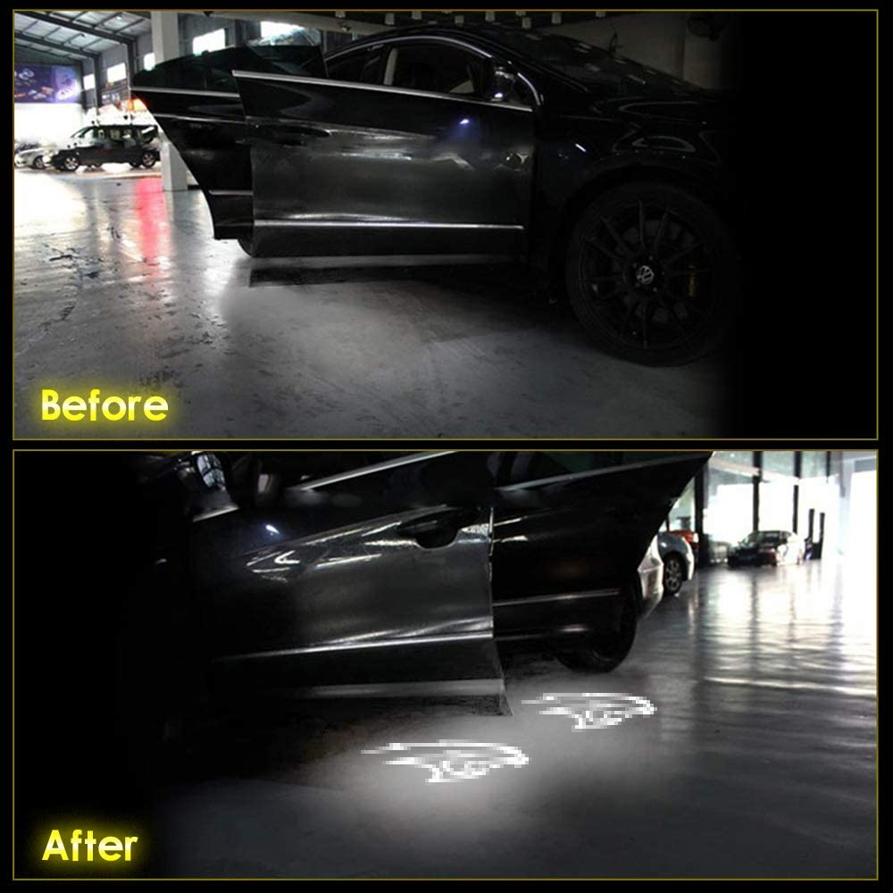 DEEPEE Car Door LED Logo Projector Lights Ghost Shadow Welcome Courtesy Step Lamp Compatible with Dodge Challenger Series 2015-2018 of 2