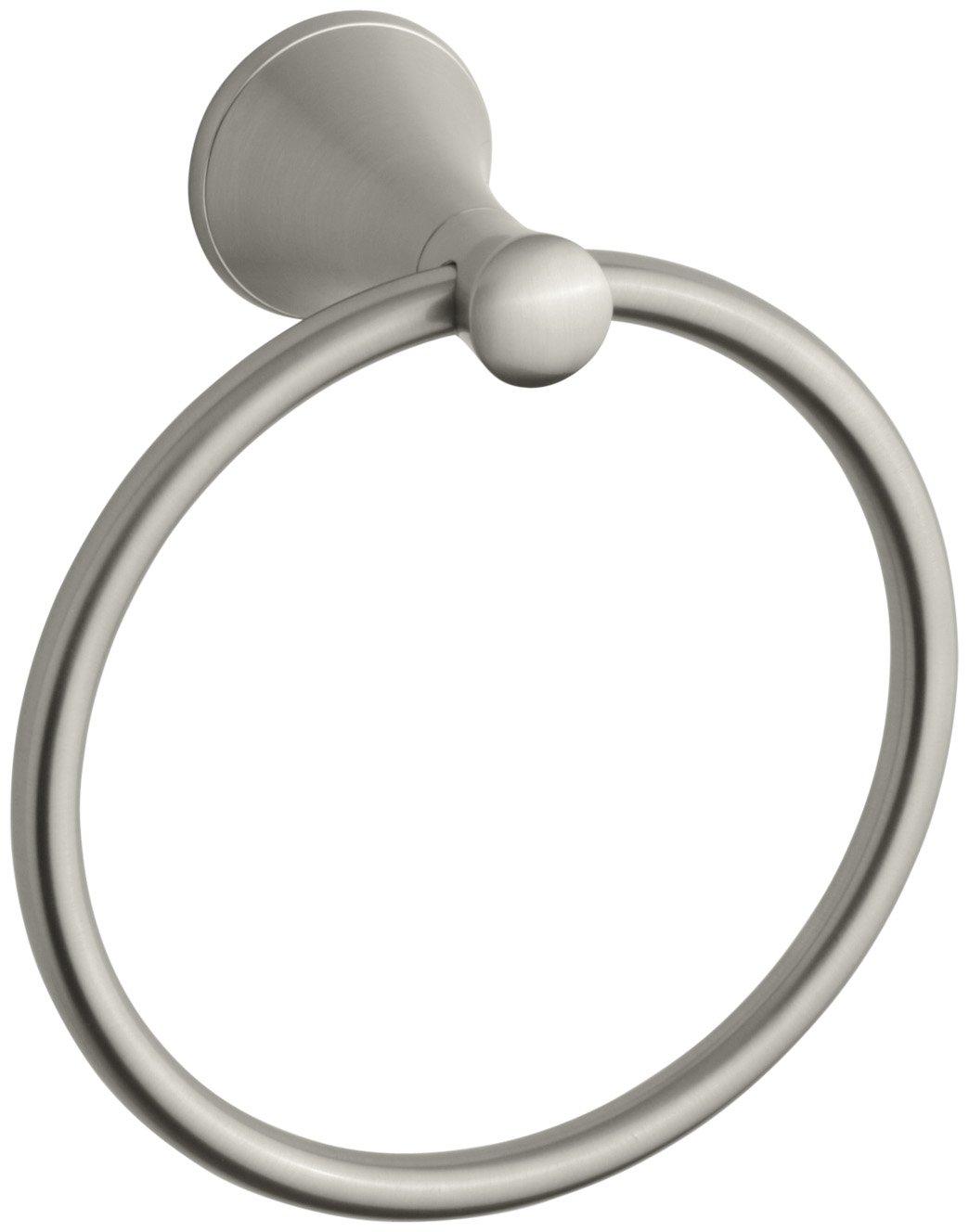 Kohler K-13435-BN Coralais Towel Ring, Vibrant Brushed Nickel