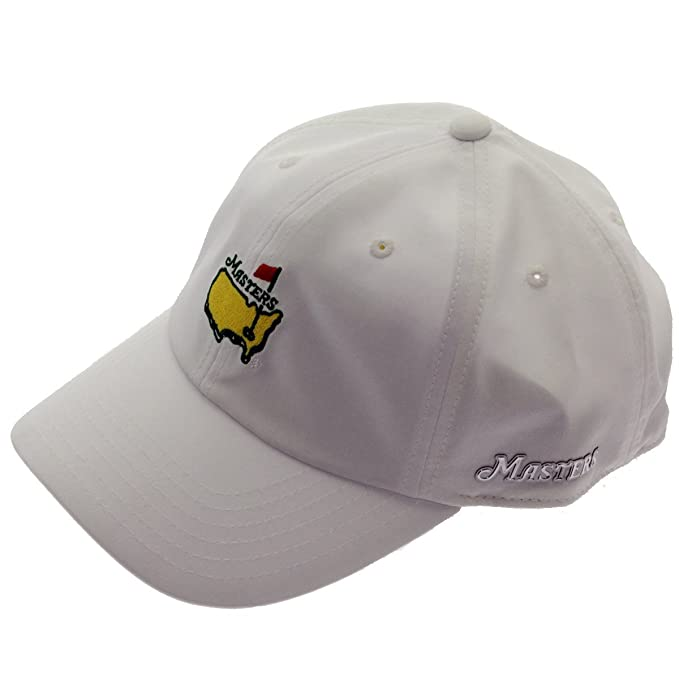 a6d81f35111 Image Unavailable. Image not available for. Color  Masters 2018 Golf Hat  Performance Tech White Adjustable Official Augusta National