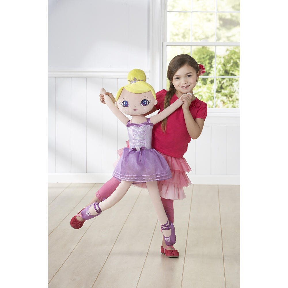 4d2a076a1 Amazon.com  You   Me 35 inch Dance With Me Ballerina Doll - Purple ...