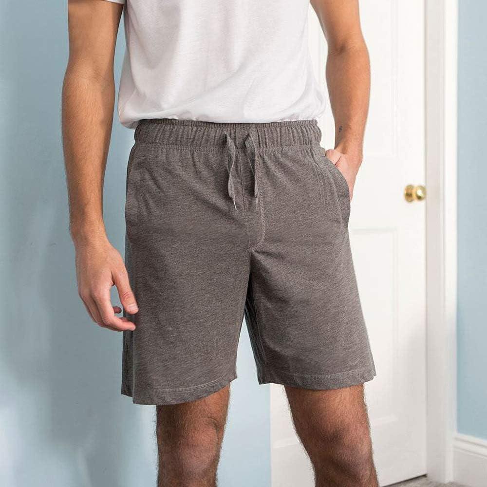 Comfy Co Pantalones cortos el/ásticos para hombre