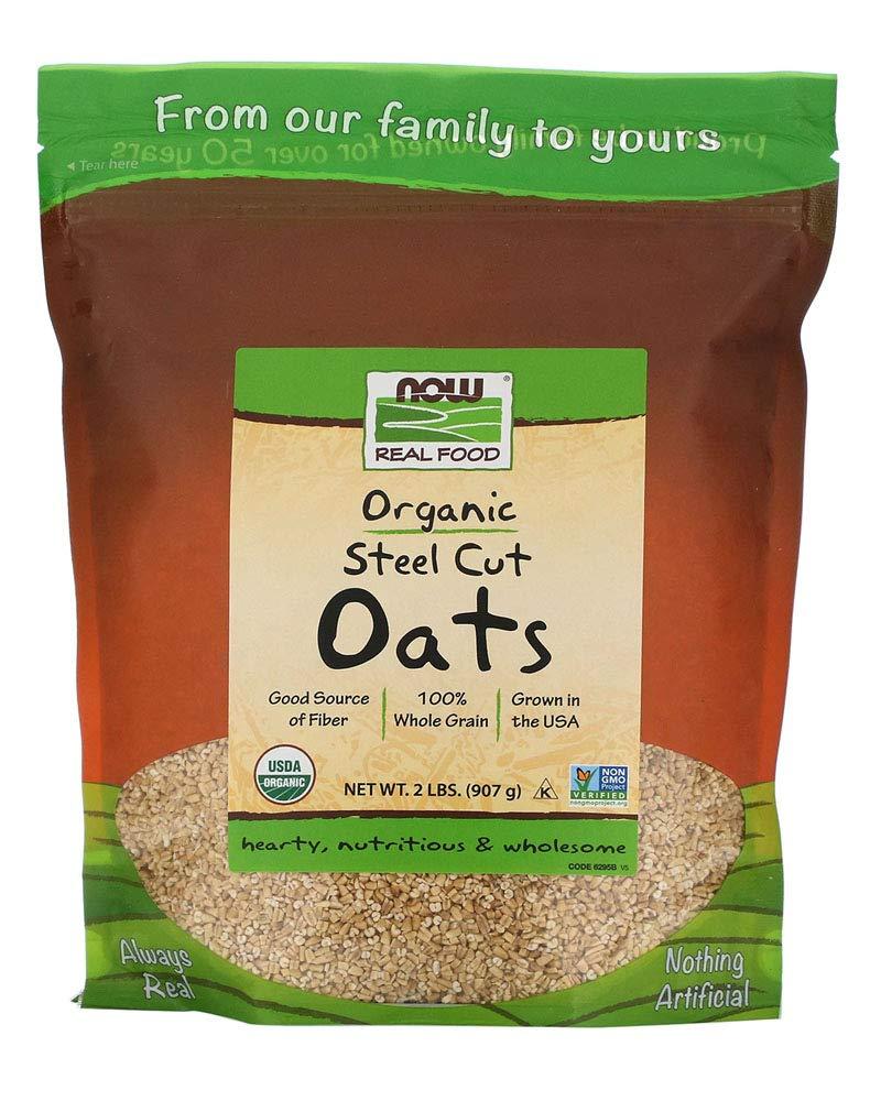 Now Foods Organic Steel Cut Oats,, 907 g