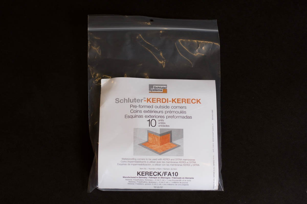 Schluter KERDI-KERECK-F - 4 mil Thickness - Outside Waterproofing Corner - Qty: 10 new