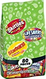 Assorted Wrigley Skittles, Starburst and Lifesavers Fun Size Variety Bag, 80 Count