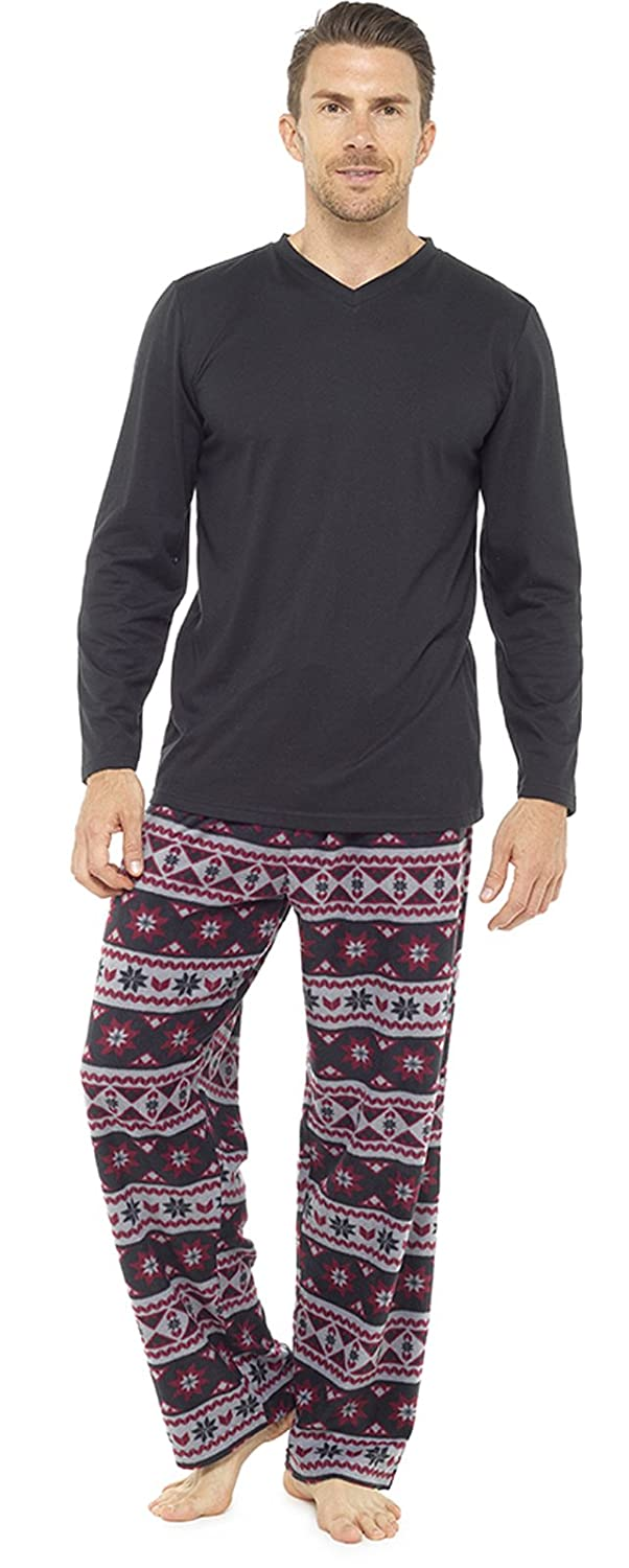 Strong Souls Mens Luxury 2 Piece Long Pyjamas Pjs CKMN-48755