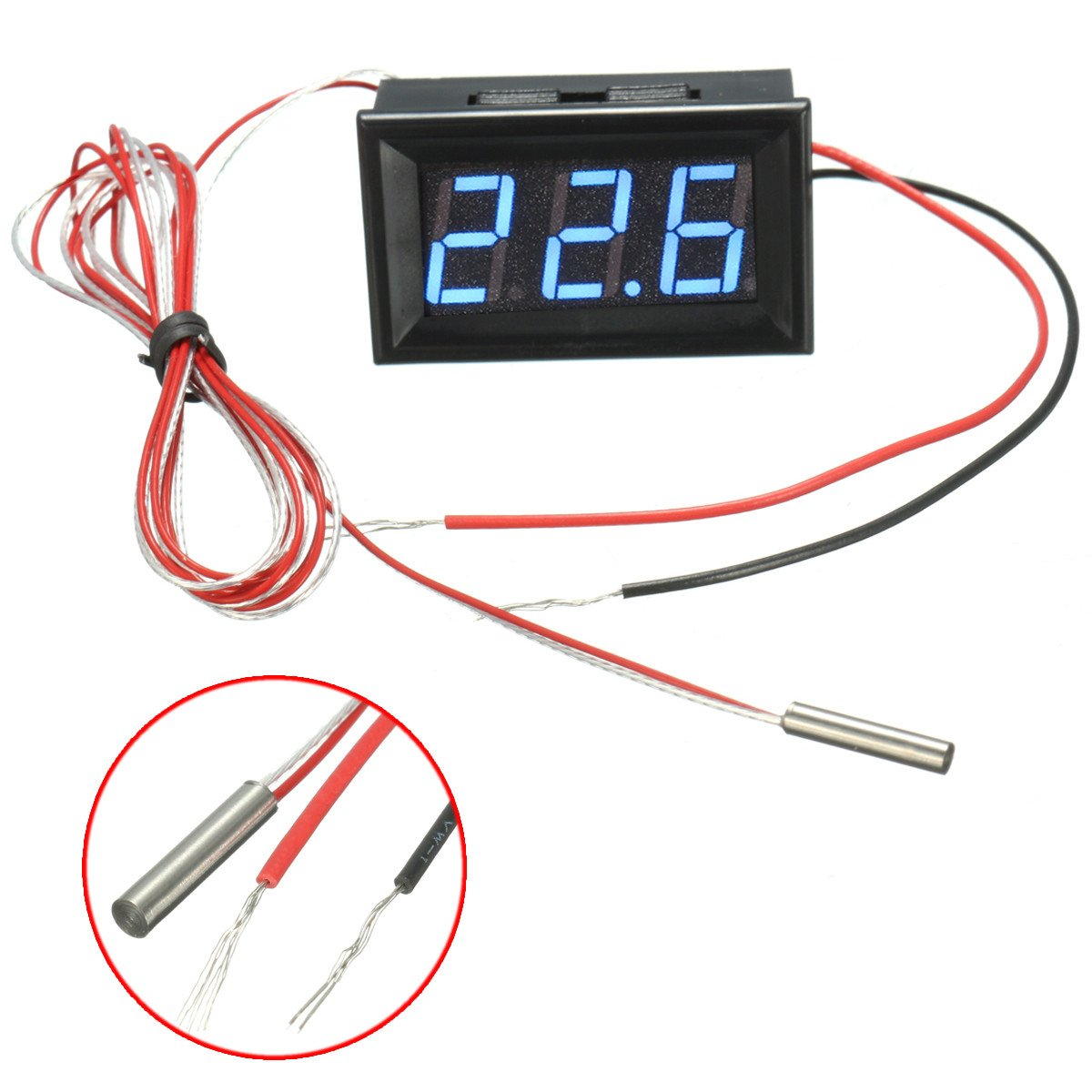 0.56inch 3 Bit -200~450℃ Digital LED Thermometer Temerature Tester PT100 Blue Backlight by GIMAX (Image #7)