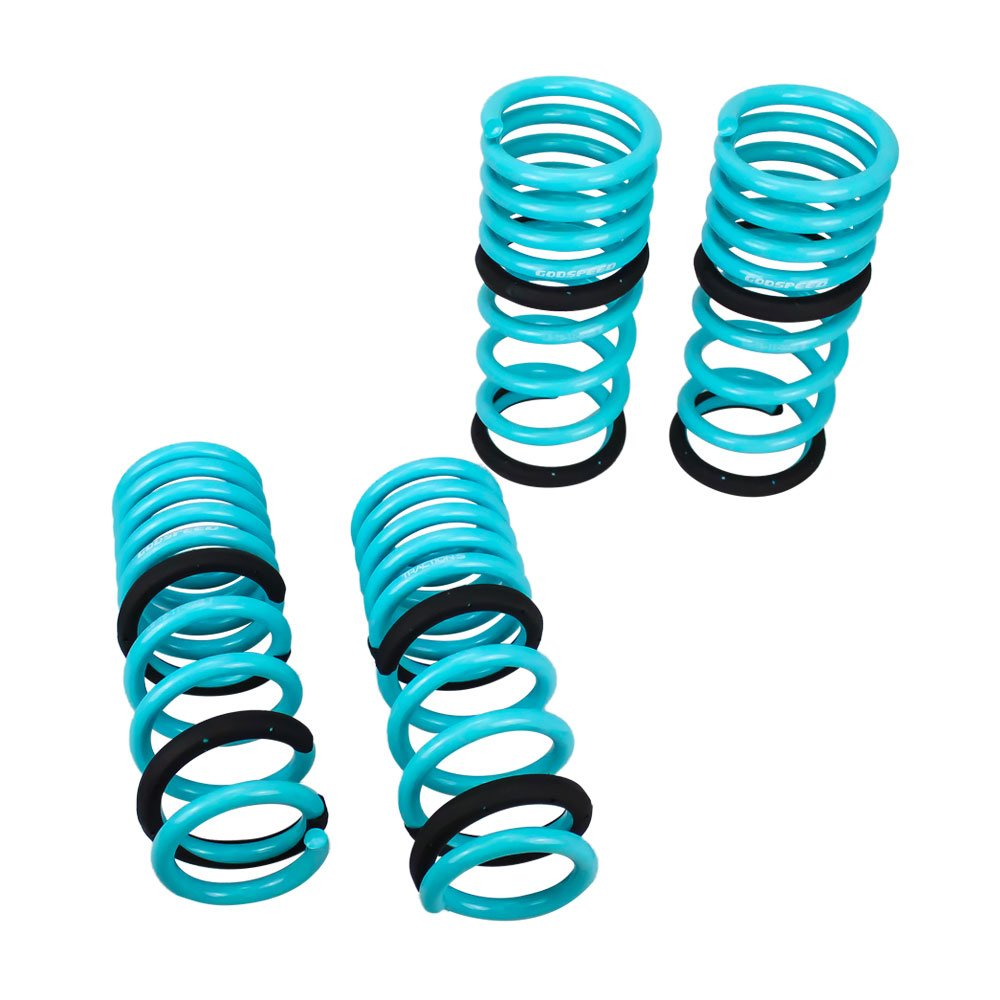 Godspeed(LS-TS-II-0002-C) Traction-S Performance Lowering Springs, Reduce Body Roll, Improve Steering Response, Set of 4