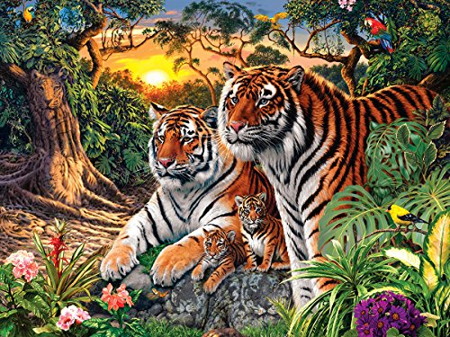 MasterPieces Jungle Pride Hidden Image Glow Puzzle, 550-Piece