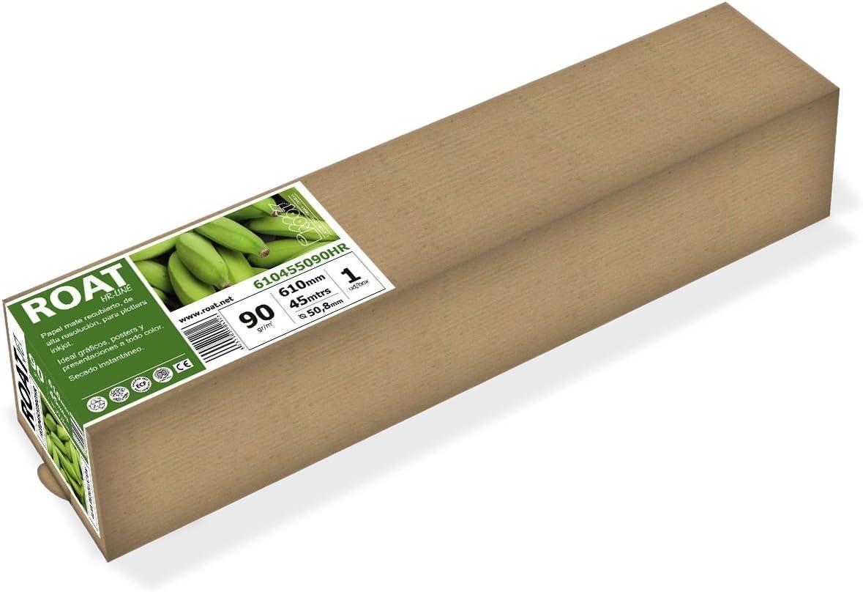 HR 1067455090HR – Rollo de papel inkjet de alta resolución de 90 gr, 1067 mm x 45 mtrs, para todo tipo de plotters, 1 ud/caja: Amazon.es: Oficina y papelería