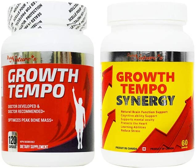 PNC Growth Tempo and Synergy Support Growing, Bone Health and Brain Support - Growth Supplement - Various Ingredients Like Calcium and Vitamin for Kids - Bone Supplement - Kids Vitamin for Height