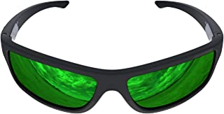 product image for Charlie V Premium American Made Sunglasses with Polarized Lenses (Matte Black, Green Reflective)