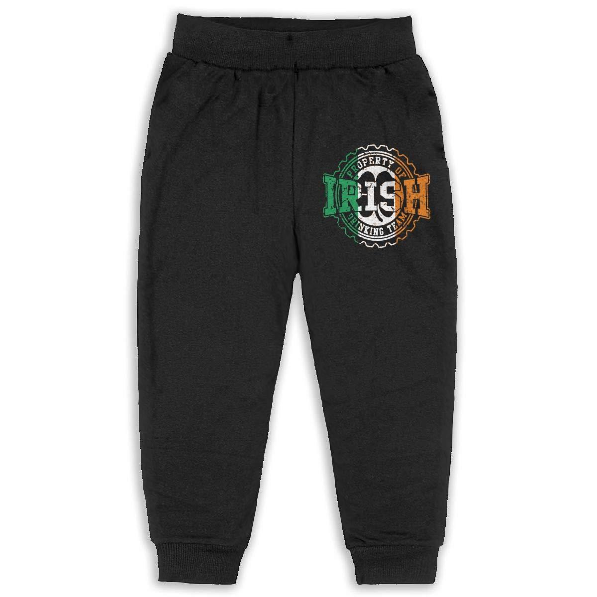 Irish Drinking Team Flag Unisex Baby Pants Classic Baby Boy Elastic Trousers