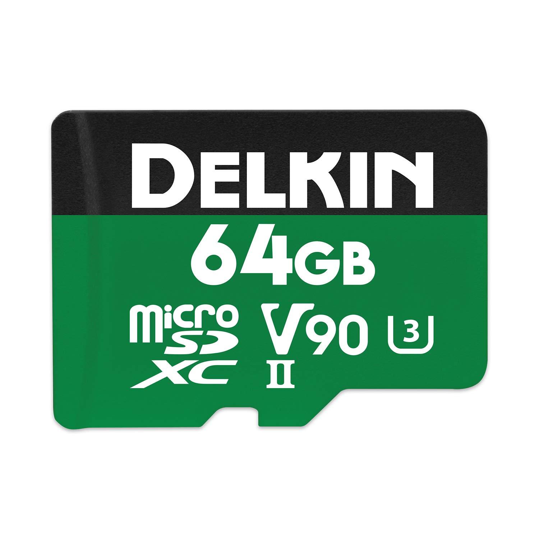 Delkin Devices 64GB Power microSDXC UHS-II (U3/V90) Memory Card by Delkin