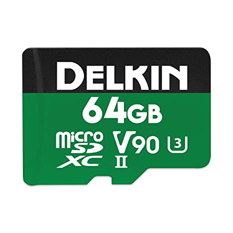 Delkin Devices Power 64GB Micro SDXC UHS-II V90 Tarjeta de ...