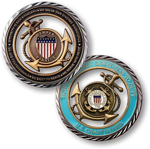 Coast Guard Challenge Coin - Northwest Territorial Mint Core Values - U.S. Coast Guard