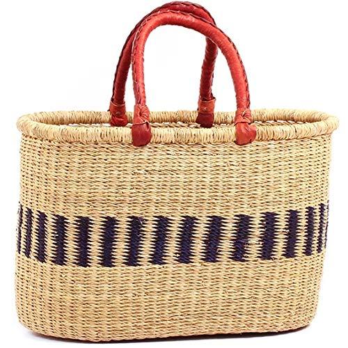 Fair Shopper Trade - Fair Trade Ghana Bolga African Oval Shopper 16-18