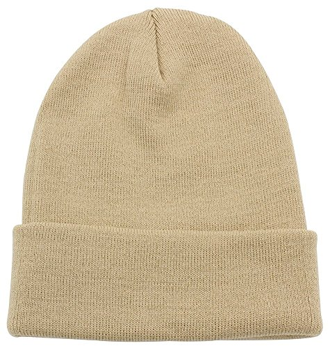 PZLE Warm Winter Hat Knit Beanie Skull Cap Cuff Beanie Hat Winter Hats for Men ()