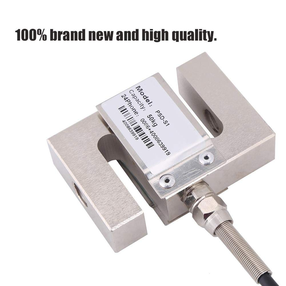 Gewicht Sensor f/ür Mischstation Asphaltstation Dosiermaschine 100kg S TYPE Hochpr/äzisions-W/ägezellenwaage Sensor Metall Gewichtssensor mit Kabel