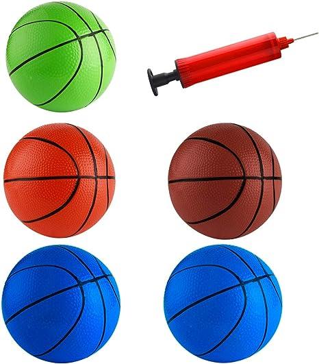 FEPITO 5 Pcs 16cm Mini Baloncesto Inflación Mini Ball Toys con ...