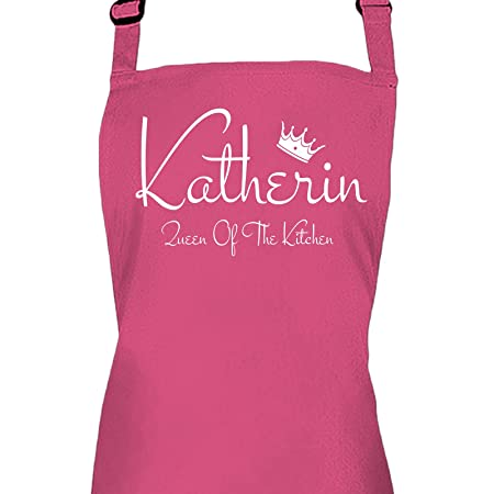 Ladies Personalised Queen Of The Kitchen Apron with A Name Of Your ...