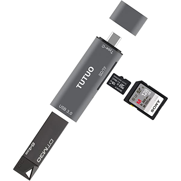 Amazon.com: TUTUO Type C Card Reader SD/TF USB C to USB A ...
