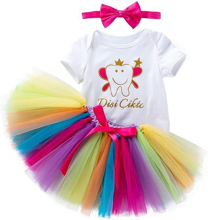 ASHOP Vestidos niña/ Carta Impresa Mameluco + Vestido Tutu ...