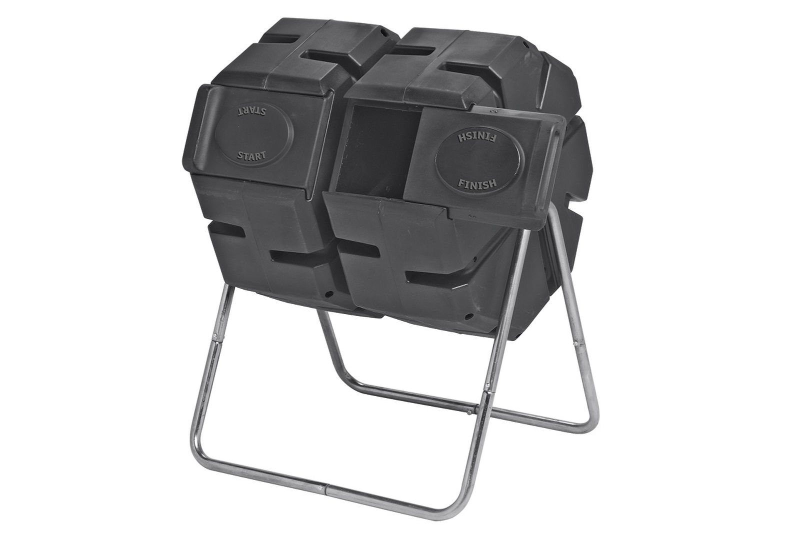 Dual Batch Compost Tumbler 100% Recycled Plastic Outdoor Compost Bin by Forest City Models