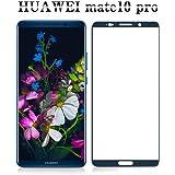 Huawei Mate 10 Pro フィルム,Ziptrue 旭硝子 フルカバー 強化ガラス Huawei Mate 10 Pro ガラスフィルム ファーウェイ メイト 10 プロ 3D曲面 高鮮明 9H 自動吸着 2色 (ブルー)