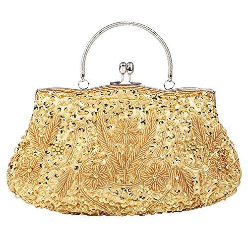 De Womens Sac Yellow Fashion Pochette De Mariée Perle Pearl à Soirée Sac Main Pour Paillettes Perlé D'embrayage Paillettes Sac Ladys Sac Perlées Sacs PPwBxSvrq