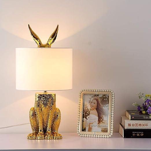 Lámpara de Escritorio Decorativa de Conejo/Liebre, Lámpara de Mesa ...