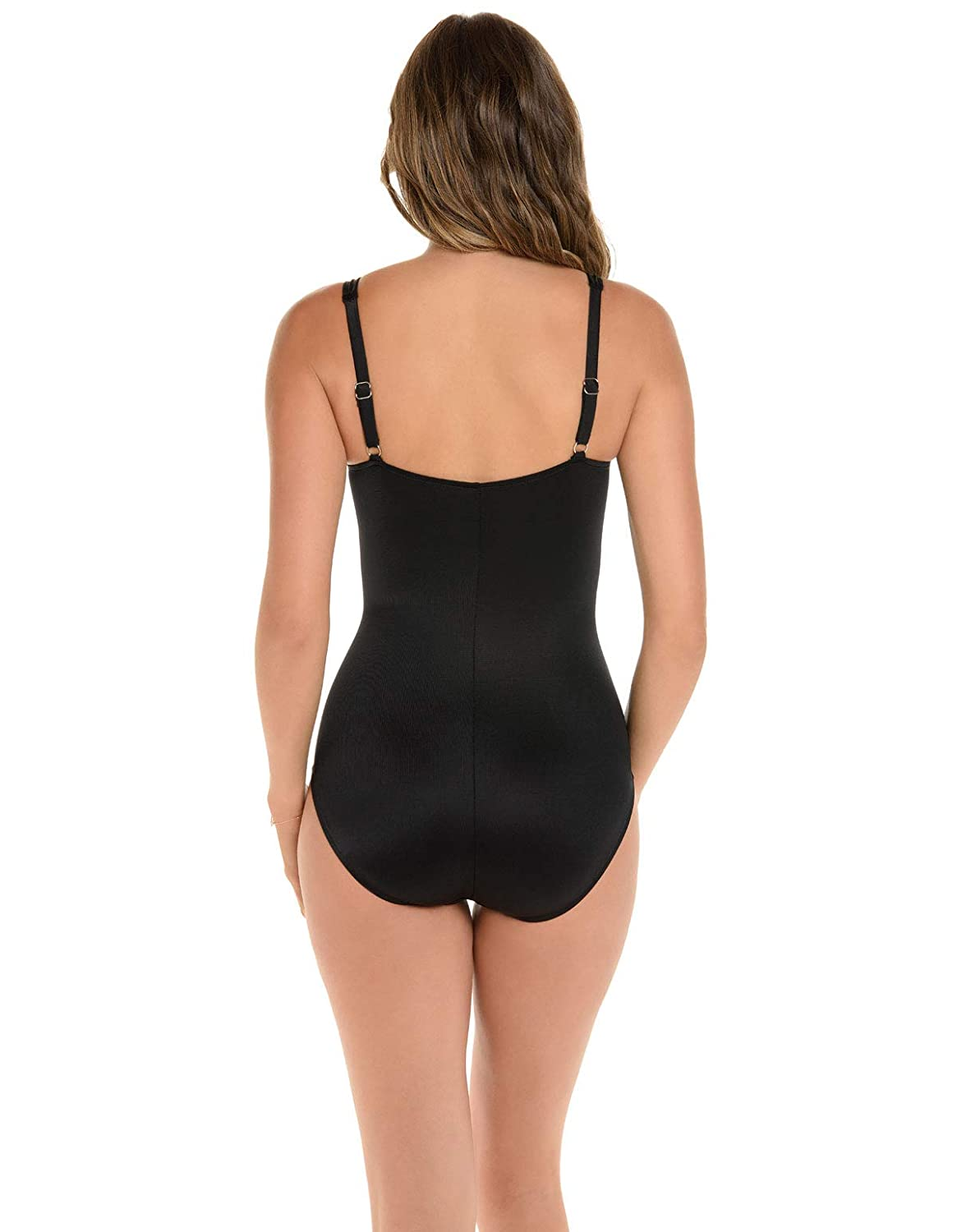 25e9fcb99b6 Miraclesuit Women s Swimwear So Riche Zip Code Sweetheart Neckline with  Zipper Tummy Control One Piece Swimsuit at Amazon Women s Clothing store