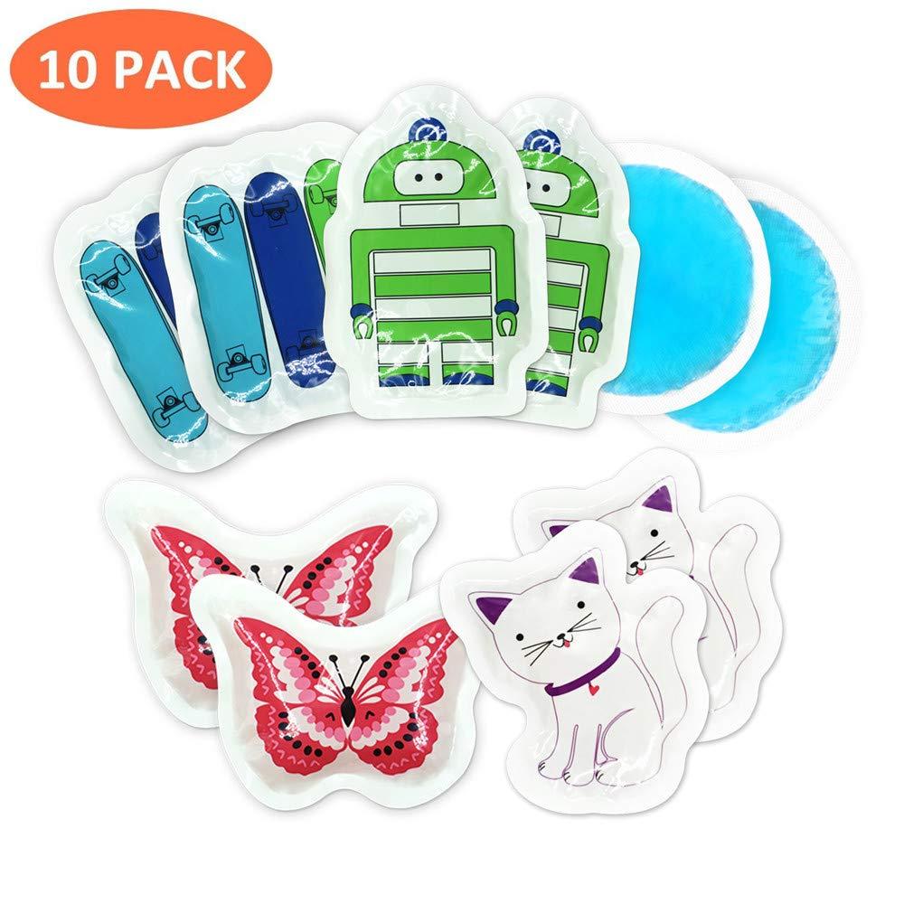 Bolsa de hielo para niños con lesiones de Boo Boo Buddy, bolsa de hielo reutilizable para muelas del juicio, paquetes de gel pequeños y redondos con ...