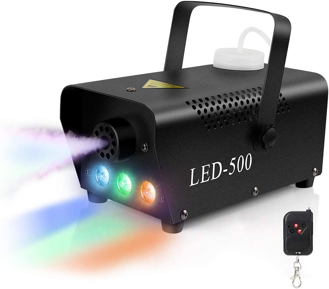 Halloween Fog Machine Portable Smoke Machine with Wired and Wireless Remote Control for Christmas Wedding Stage Party Holiday 1000W,Constant Temperature