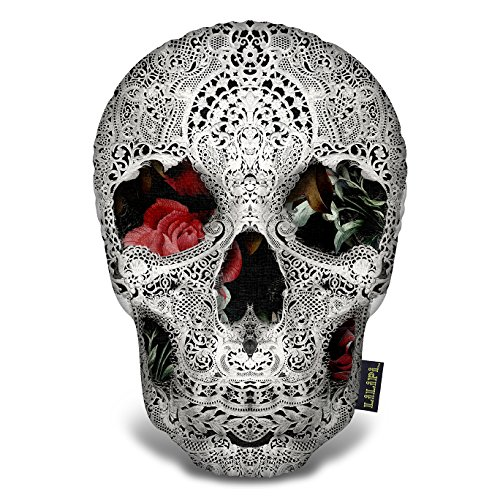 - LiLiPi Lace Skull 2 Light Tee Decorative Accent Throw Pillow