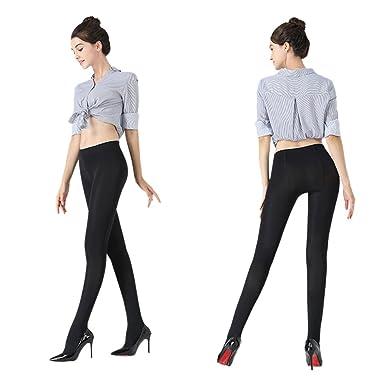 78fd6a675ed1d K.T. Fancy 2 Packs Women's 100 Denier Leggswear Solid Color Soft Opaque  Footed Silky Tights,