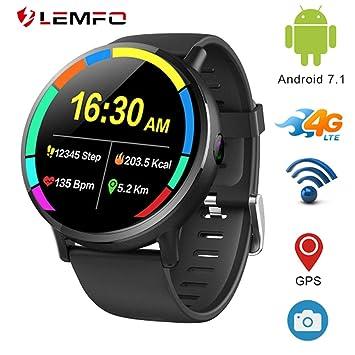 LEMFO LEM X - Ip67 Resistente al Agua Android 7.1 4G Reloj Inteligente móvil - MT6739 1GB + 16GB, Pantalla de 2.03 Pulgadas, cámara de ...