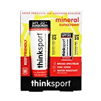 Thinksport 2-Piece Mineral Sunscreen Combo Pack | SPF 50 3oz Sunscreen, SPF 30 Sunscreen Stick | Great for Sport & Active Use | 20% Zinc Oxide |