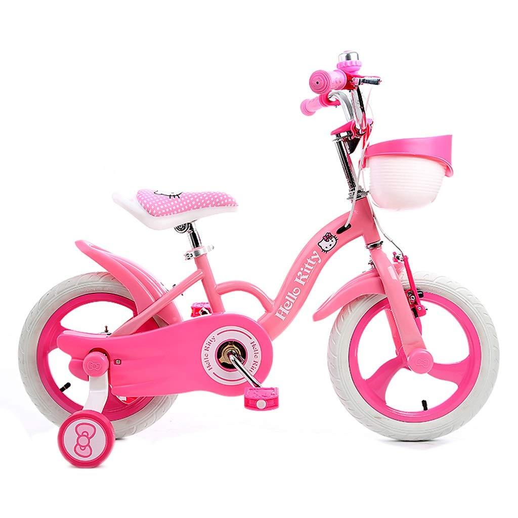 子供の自転車 ファッションの女の子の自転車 アウトドア旅行子供の自転車 2-6歳の女の子の自転車 男の子と女の子のための最高の贈り物 (Color : Pink, Size : 12 inches) 12 inches Pink B07Q6M2BQK