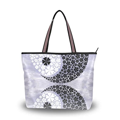 1ad781aaf32f Amazon.com: MAPOLO Yin Yang Fashion Handbags Tote Bag Shoulder Bag ...