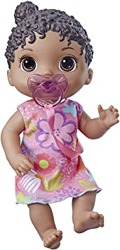 Baby Alive Baby Lil Sounds Interactive Brown Skin/Black Hair Doll