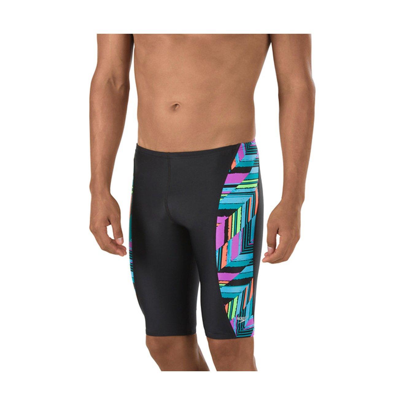Speedo Mens PowerFLEX Eco Angles Jammer Swimsuit