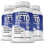 Premium Keto Pills - 3 Pack - Ketogenic - for Women & Men - Keto Capsules - Keto Diet - Weight Loss Supplements - Best Keto Pills - Premium Keto - Keto Slim - Keto Lean - Keto BHB
