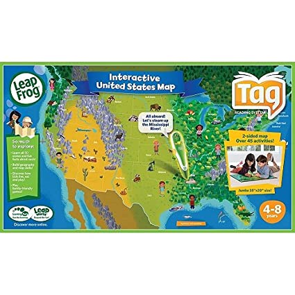 Amazon Com Leapfrog Tag Maps Usa Toys Games